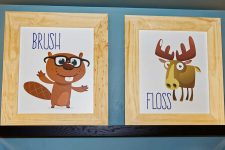 Lincoln Pediatric Dentistry East Office - brush and floss paintings